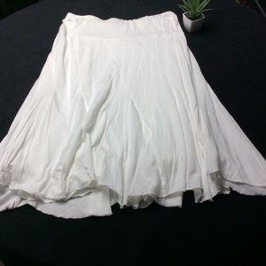 DKNY White T-shirt Skirt Medium